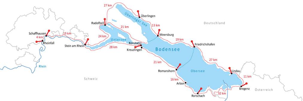 Bodenseeradweg Karte