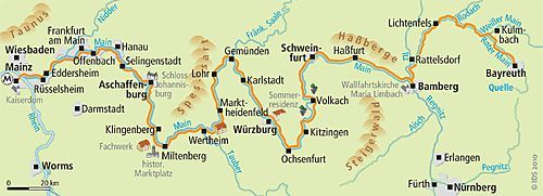 Mainradweg Karte